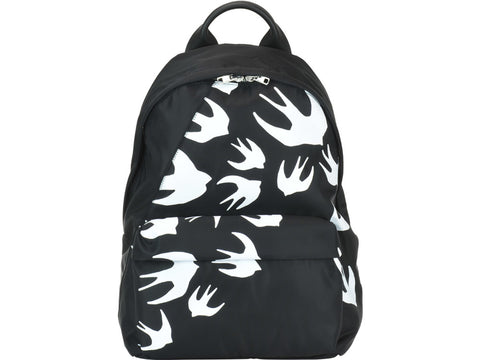 Alexander McQueen Swallow Print Zip Around Backpack