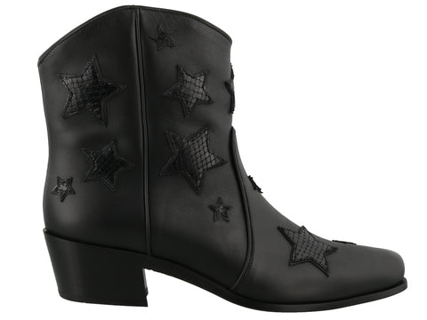 Miu Miu Star Patches Cowboy Ankle Boots