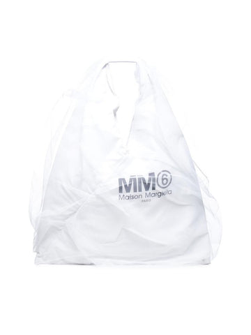Mm6 Maison Margiela Logo Tulle Shoulder Bag