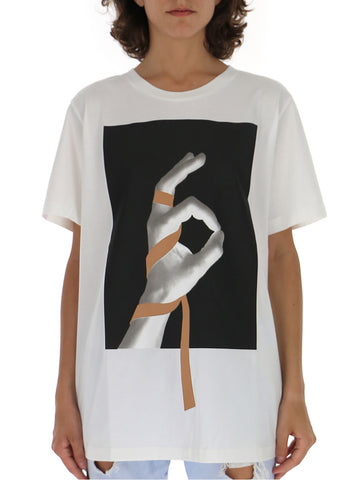 Mm6 Maison Margiela Graphic Print Crewneck T-Shirt