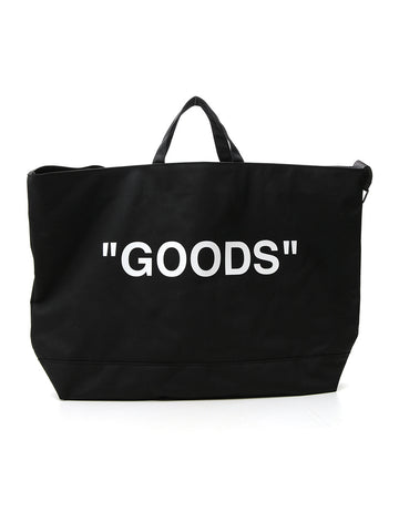 Off-White Goods Print Tote Bag