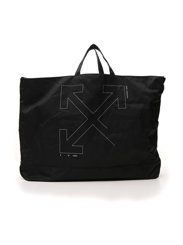 Off-White Unfinished Logo Tote Bag