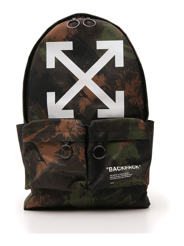Off-White Camouflage Arrows Quote Backpack