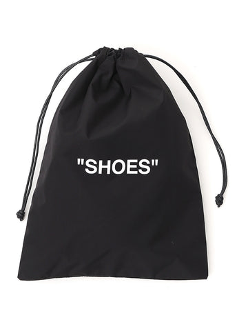 Off-White Quote Drawstring Shoes Bag