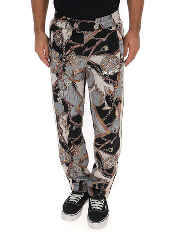 Palm Angels Trinkets Logo Printed Track Pants