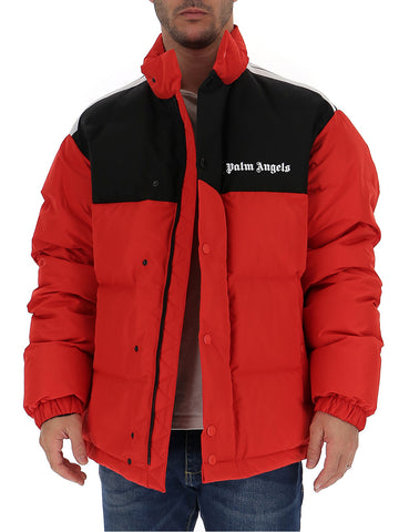 Palm Angels Contrast Logo Puffer Jacket