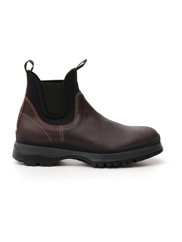 Prada Contrasting Panelled Chelsea Boots