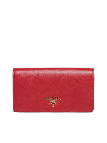 Prada Saffiano Chain Clutch Bag