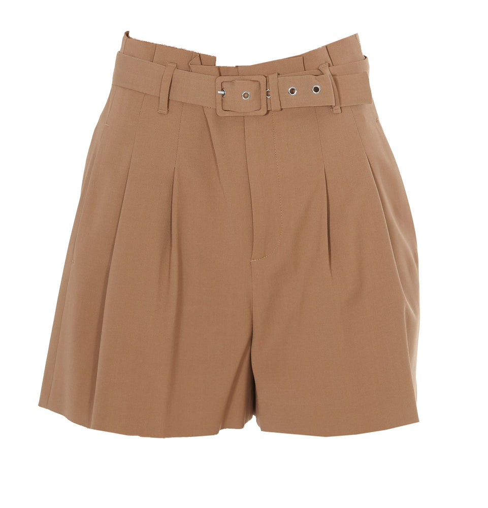 Red Valentino Belted High Waist Shorts
