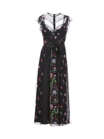 Red Valentino Floral Printed Maxi Dress
