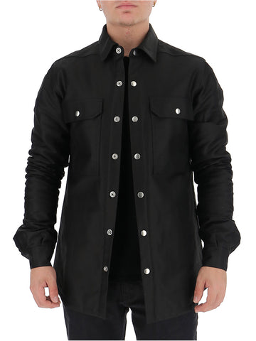 Rick Owens Snap Button Shirt Jacket