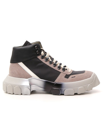 Rick Owens Lace Up Tractor High Top Sneakers