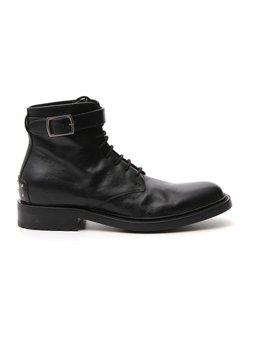 Saint Laurent Army Buckle Lace Up Boots