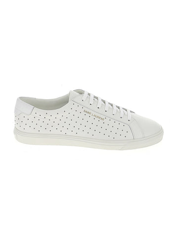 Saint Laurent Andy Logo Studded Lace Up Sneakers