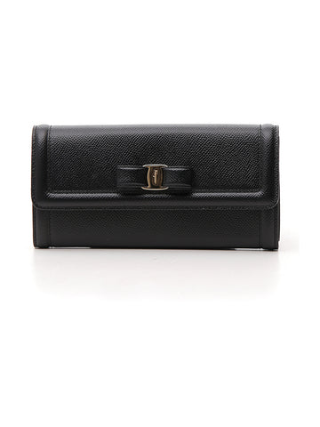 Salvatore Ferragamo Vara Bow Continental Flap Wallet