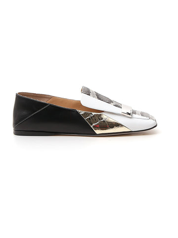 Sergio Rossi Sr1 Contrast Panelled Loafers