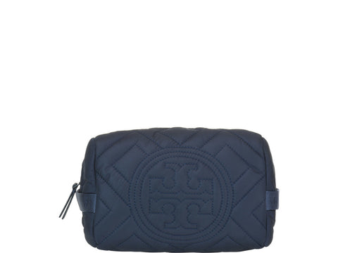 Tory Burch Logo Quilted Make Up Bag
