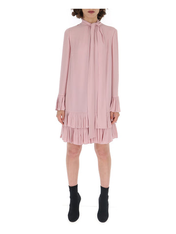 Valentino Pussy Bow Neckline Frilled Dress
