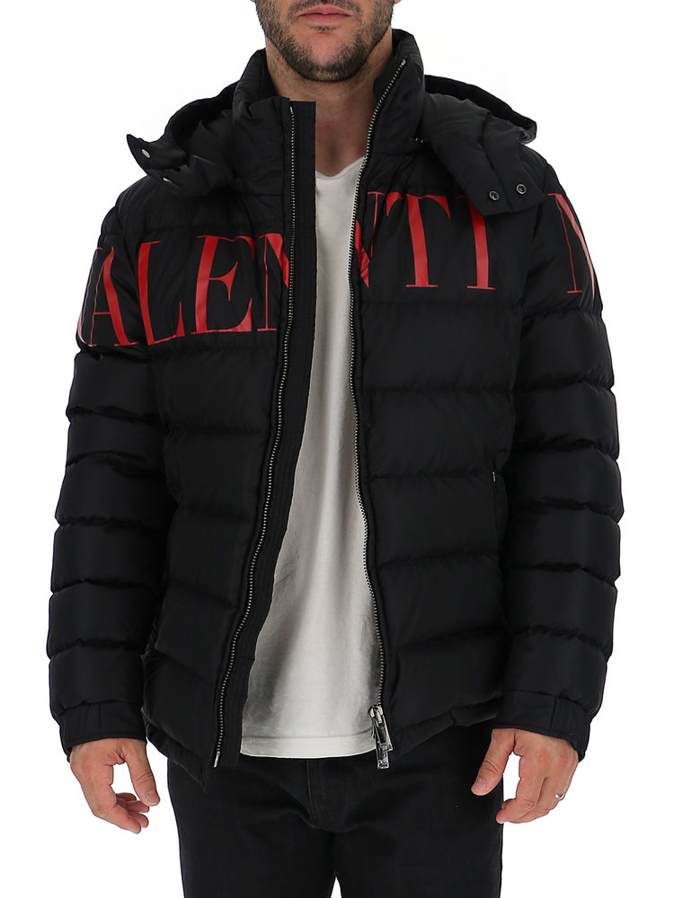 Valentino Logo Printed Down Jacket