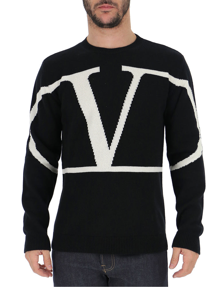Valentino V Logo Knitted Sweater