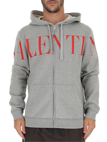 Valentino Logo Printed Hooded Jacket