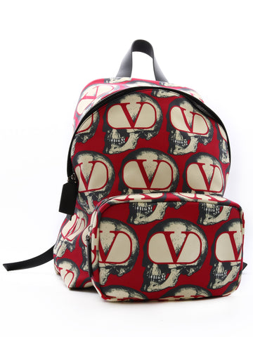 Valentino V Logo Zipped Backpack