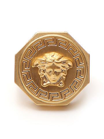 Versace Gold Tone Medusa Ring