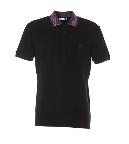 Versace Collection Medusa Logo Patch Polo Shirt