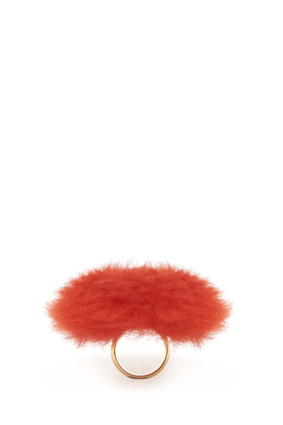 Balenciaga Fur Ring in Red