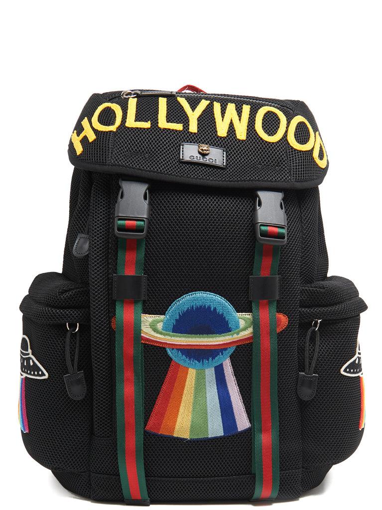 6783bd28ebd1 Gucci Mesh Embroidered Hollywood Backpack – Cettire