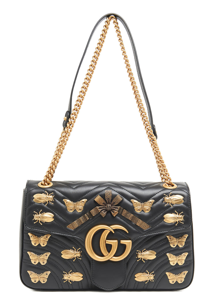 bf705198614 Gucci GG Marmont Insect Charm Shoulder Bag – Cettire