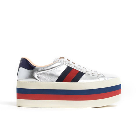 Gucci Metallic Platform Sneakers