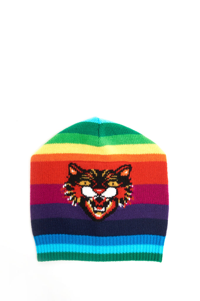 Gucci Rainbow Angry Cat Beanie – Cettire 12a0bd466b22