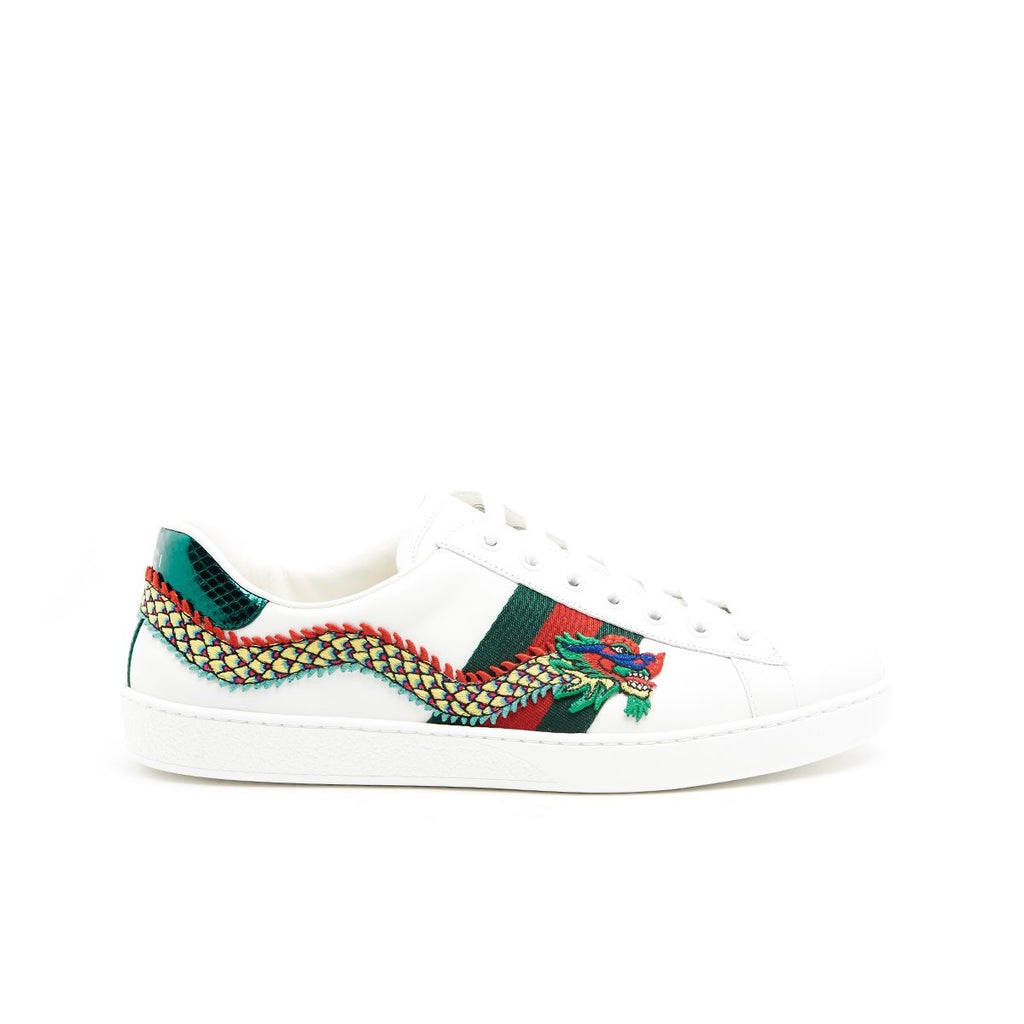 a0beca16b6f Gucci Embroidered Dragon Ace Sneakers – Cettire