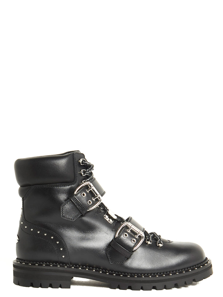 f70aef0bc0d Jimmy Choo Breeze Lace-Up Biker Boots – Cettire