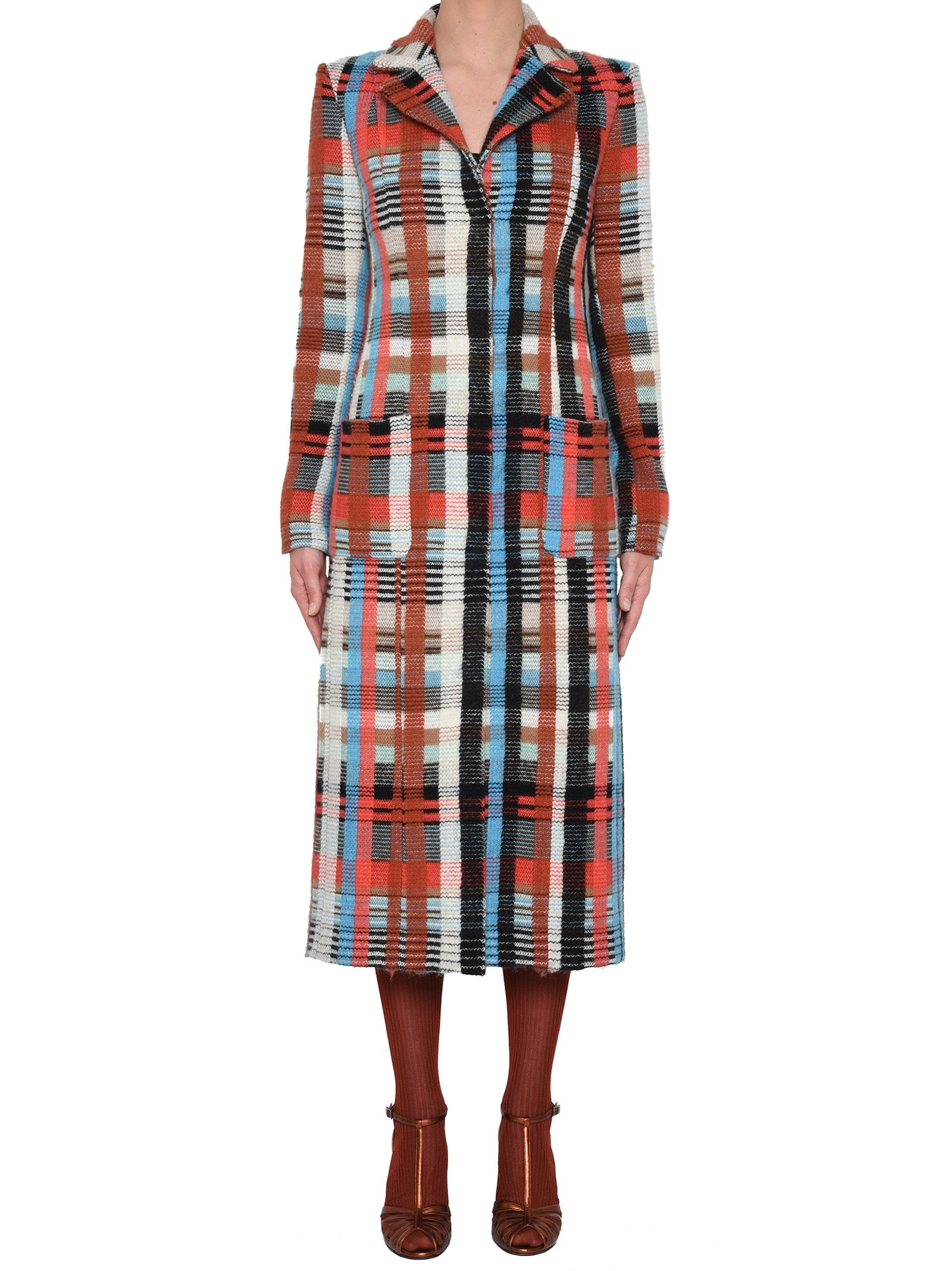 Missoni MISSONI MULTICOLOUR STRIPED LONG COAT