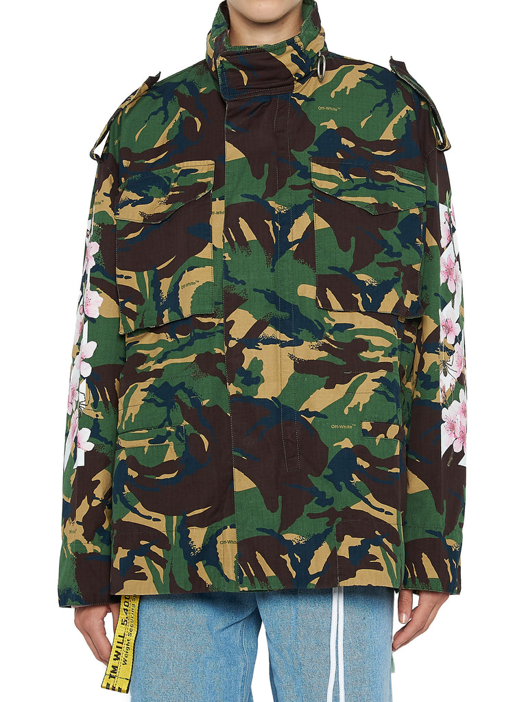 52aff5b4b89b5 Off-White Cherry Blossom Printed Camouflage Jacket – Cettire