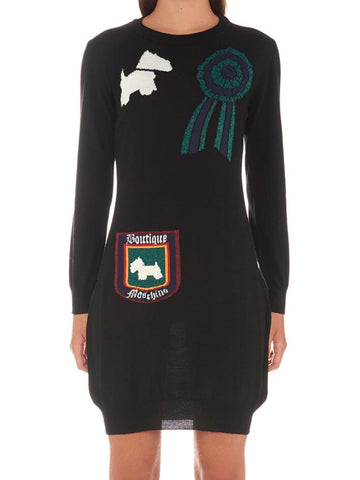Boutique Moschino Printed Patch Dress