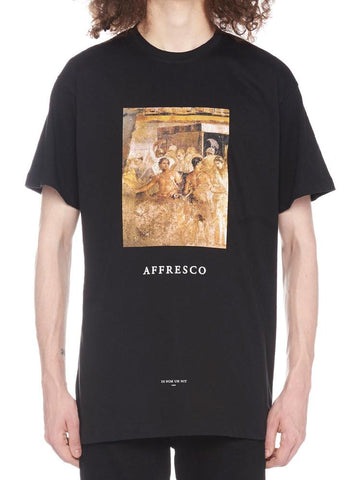 Ih Nom Uh Nit Affresco Print Crew Neck T-Shirt