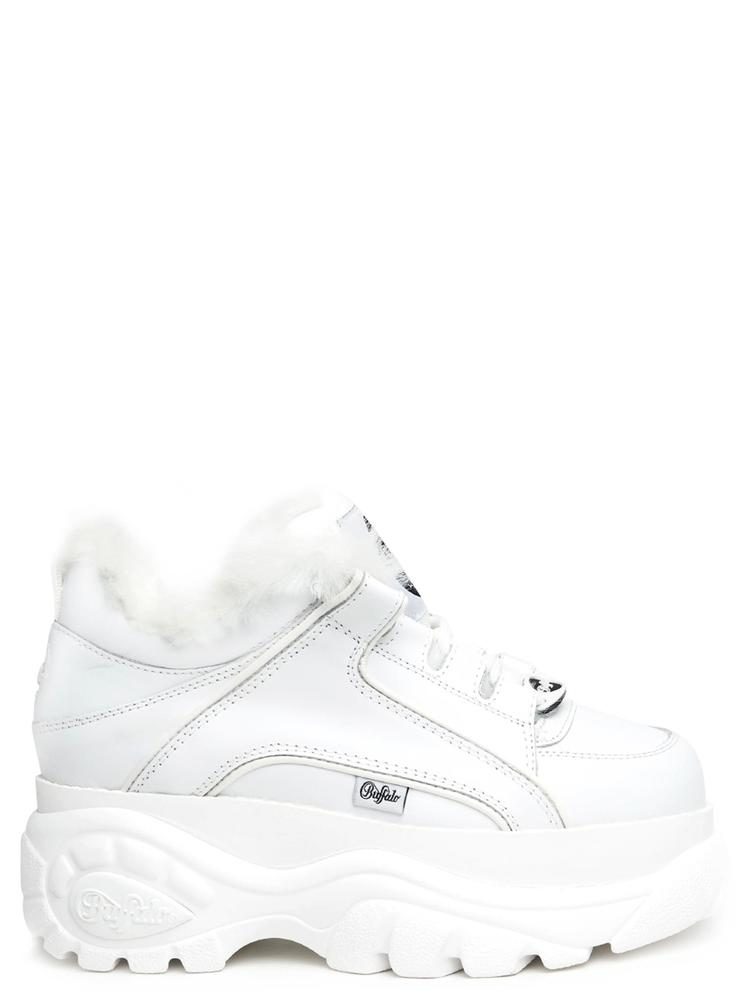 Junya Watanabe Comme Des Garcons Fur Insole Chunky Sneakers In White