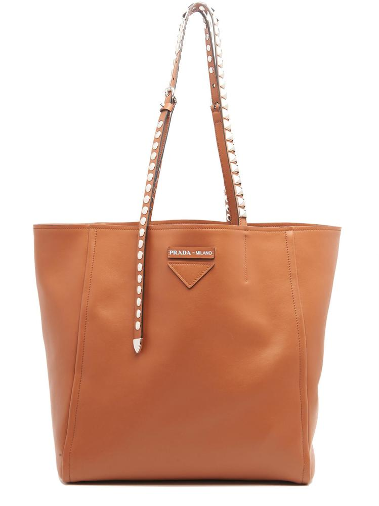 Prada Leathers PRADA STUDDED TOP HANDLE TOTE