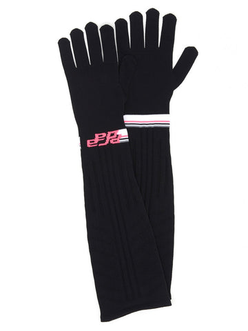 Prada Logo Long Gloves