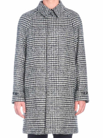 Z Zegna Houndstooth Pattern Coat