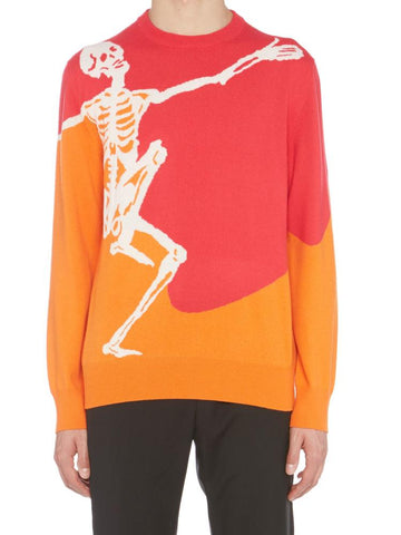 Alexander McQueen Dancing Skeleton Colour Block Sweater