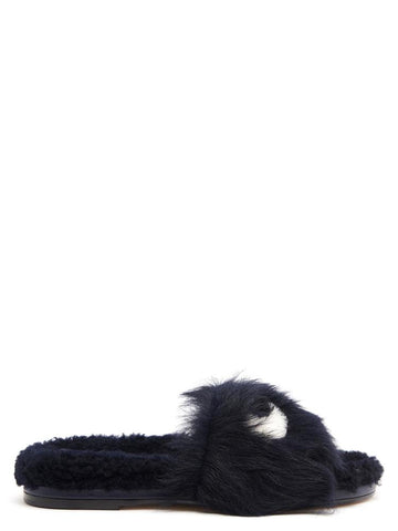 Anya Hindmarch Eyes Fur Slides