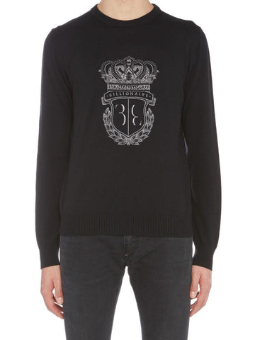 Billionaire Embroidered Crest Pullover
