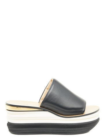 Chloé Striped Platform Mules