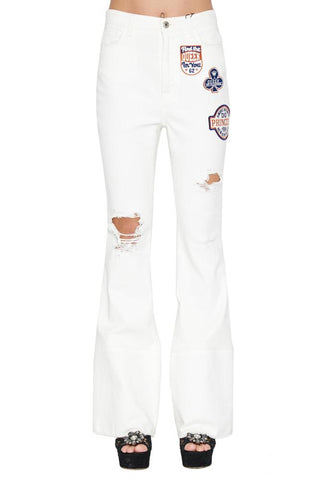 Dolce & Gabbana Patches Flared Jeans