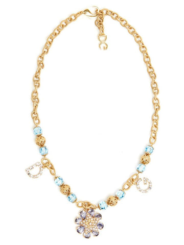 Dolce & Gabbana DG Bejeweled Charm Necklace