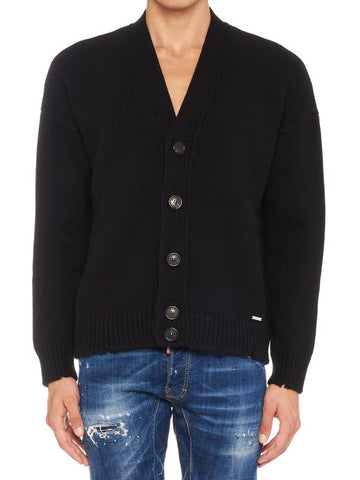 Dsquared2 Frayed Hem Cardigan